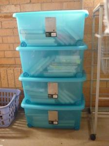 Four 46L containers no securely hold my significant cookbook collection. See you in 12 months!