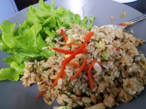 Minced chicken with Thai basil